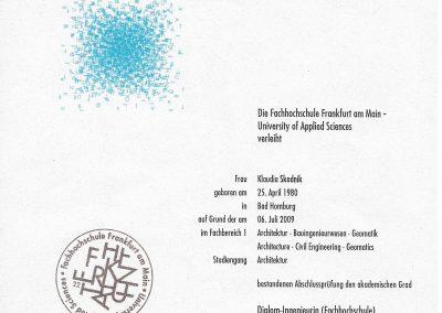 Dipl.-Ing. Architektur Diplom